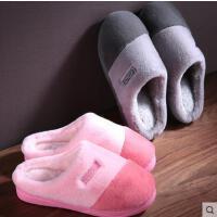 棉拖鞋女冬季室内防滑厚底情侣居家软底毛毛拖鞋月子鞋男