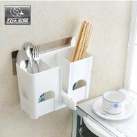 双庆吸盘置物架厨房沥水收纳架创意沥水筷子筒汤勺置物架5047