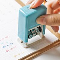 按压滚轮戳文字日期印章学生便携年月日可调自动回墨手帐配件