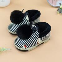 冬季棉拖鞋保暖防滑包跟皮面卡通男童女童宝宝室内居家小棉鞋