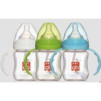 好孩子玻璃奶瓶 goodbaby母乳实感宽口径握把吸管玻璃奶瓶 120ml