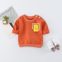 春秋男童女童纯棉打底衫宝宝长袖T恤1小童春装2婴儿上衣0-3岁春款