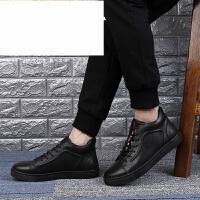 新品时尚高帮板鞋男休闲鞋男士皮鞋棉鞋冬季加绒保暖鞋子