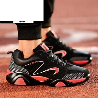 男鞋子潮流青年休闲鞋皮面跑步板鞋耐磨旅游鞋男式运动鞋学生