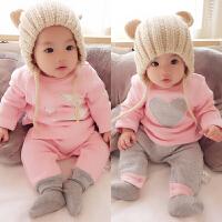 婴儿秋冬季儿童加厚法兰绒睡衣男童女童宝宝长袖家居服珊瑚绒套装