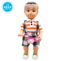 儿童益智早教娃娃 智能语音会音乐吹风车 吹泡娃娃 女孩玩具