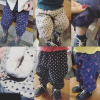 童装冬装17女童收脚裤子灯笼裤婴幼儿童加厚长裤女宝宝加绒卫裤潮