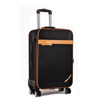拉杆箱万向轮防水牛津布24寸旅游旅行箱女22男行李箱28寸帆布箱包 黑色 270