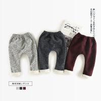 婴童装冬季新款 男女童宝宝加绒打底裤婴儿加绒加厚大屁裤长裤