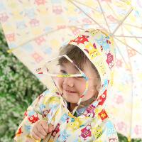 儿童雨衣大檐帽雨披男女学生宝宝水衣卡通猫头鹰雨衣