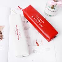 笔袋女简约韩国大学生小清新可爱大容量文具盒笔袋男小学生文具袋
