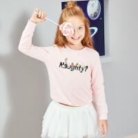 【2件3折到手价:39.6】小猪班纳童装宝宝长袖t恤男女童卡通套头卫衣