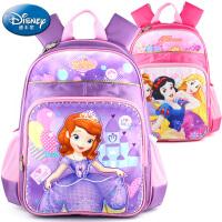 Disney迪士尼小学生专用书包正品减压双肩包女孩上学书包多功能背包A