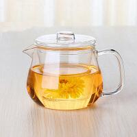 三件式玻璃茶具 耐热玻璃杯花茶泡茶杯 带盖内胆茶具玻璃杯500ml下午茶茶壶家用