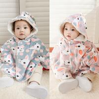 婴儿外套装男童秋冬装加绒加厚保暖女童宝宝秋装0岁衣服