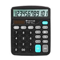 创易语音计算器大按键12位学生财务会计计算机双电源办公用品
