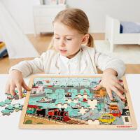 特宝儿 森林动物拼图 24片童拼图玩具宝宝木质拼图男孩女孩儿童玩具2-3岁-6岁