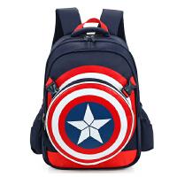 美国队长小学生书包男生1-3-5年级儿童书包2-4-6男童双肩包