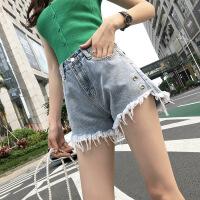 牛仔短裤女新款韩版高腰显瘦外穿bf宽松百搭直筒阔腿热裤潮