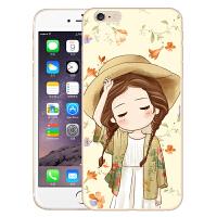 伯朗苹果6手机壳 iphone6s手机套 4.7保护套硅胶卡通彩绘外壳包邮