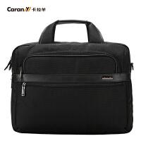 卡拉羊电脑包14寸手提商务包单肩包斜挎包公文包新款男士包CS1328