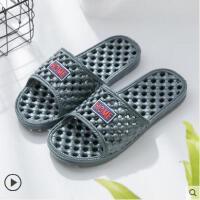洗澡拖鞋漏水浴室防滑男女镂空按摩卫生间凉拖鞋家居室内家用户外新品网红同款