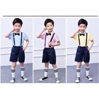 儿童礼服毕业服男童背带裤套装小学生幼儿园合唱服表演服演出服装