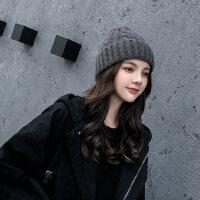 帽子女时尚百搭韩版潮英伦针织帽子保暖女士毛线帽