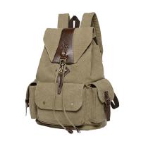 休闲帆布包 男士双肩包 旅行包运动背包复古双肩电脑包户外大包