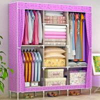 索尔诺简易衣柜 大号布衣柜钢管加粗加固钢架衣橱布艺折叠收纳柜1383