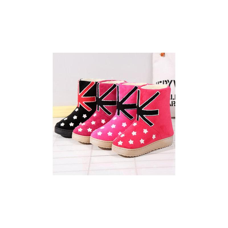 儿童棉拖鞋女童加毛绒保暖卡通防滑包跟宝宝居家室内亲子棉鞋