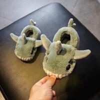 儿童棉拖鞋1-3岁秋冬男童女童室内家居鞋防滑童鞋可爱宝宝拖鞋