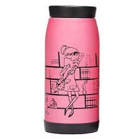 普润(PU RUN) 普润磨砂创意不锈钢可爱女士便携保温杯 情侣水杯大肚杯粉色500毫升水杯 杯子