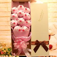 小猪玩偶公仔 送女友毛绒 娃娃花束 情人节生日结婚毕业礼物闺蜜