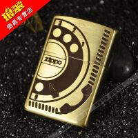 美国原装正品芝宝zippo煤油打火机正版纯铜电话机2008年套装限量