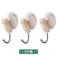 6只装吸盘挂钩 吸壁式浴室强力真空挂钩厨房卫生间免打孔无痕沾钩粘钩