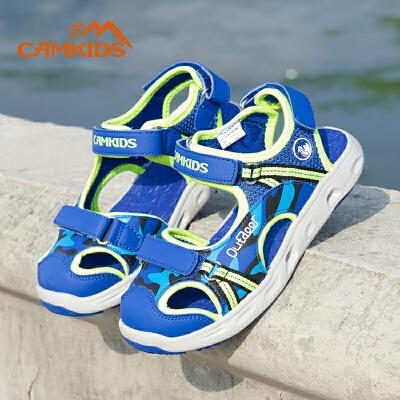 camkids垦牧男童鞋包头凉鞋2018夏季新款儿童沙滩鞋中大童尾品汇大促