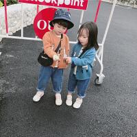 儿童针织毛衣开衫外套2018春款男童毛衣外套女童宝宝休闲小开衫潮