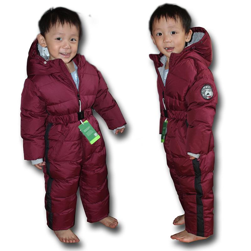 冬季儿童户外连体宝宝防风防水加厚保暖套装小童连体滑雪服新品 酒红色 发货周期:一般在付款后2-90天左右发货,具体发货时间请以与客服协商的时间为准