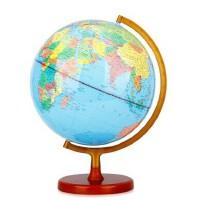 得力3036地球仪 PVC地理教学仪器 学生用品 木质底座
