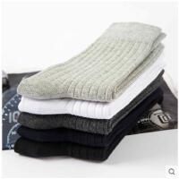 男士长袜棉袜中筒袜冬季双针抽条防臭运动袜吸汗秋冬款商务袜棉袜