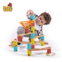 【领券立减100】儿童弹珠轨道玩具3-6周岁拼装木制女孩1-2岁宝宝早教益智滚珠积木