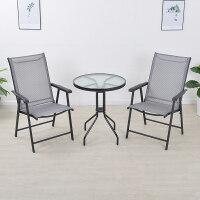 户外休闲桌椅铁艺椅子室外花园庭院台家具套件折叠三五件套组合