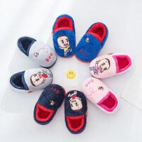 新款宝宝包跟防滑小童鞋 韩版短毛绒小孩棉拖鞋 软底儿童棉鞋女童男童