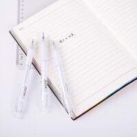 得力33347桶装0.38mm全针管中性笔 学生用品书写用笔黑笔水笔 12支混色