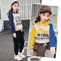 女童冬装加绒套装韩版潮秋装洋气时髦两件套大儿童装