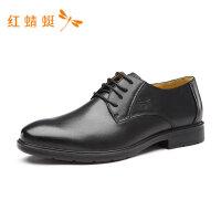 红蜻蜓男鞋春夏新款皮鞋套脚休闲一脚蹬真皮鞋子商务男皮鞋爸爸鞋-