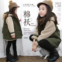 冬季新款女童装棉袄韩版中大儿童加厚羊羔绒连帽棉衣宝宝外套