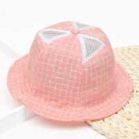 宝宝盆帽网帽1-2-3-4岁夏天小孩渔夫遮阳帽男女童薄款防晒太阳帽5 均码