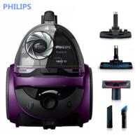 飞利浦 (PHILIPS) 吸尘器 FC5835/81家用手持无尘袋大功率 干式吸尘机 低噪音高端大吸力(金属紫)